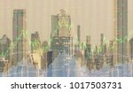 finance background. up trend...   Shutterstock . vector #1017503731