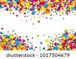 vector vibrant color holi paint ... | Shutterstock .eps vector #1017504679
