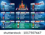 football world cup groups.... | Shutterstock .eps vector #1017507667