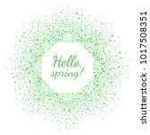 spring or easter octagon frame... | Shutterstock .eps vector #1017508351