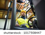 warehouse man worker with... | Shutterstock . vector #1017508447