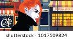 fashion woman in style pop art. ... | Shutterstock .eps vector #1017509824
