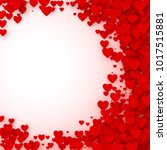 valentines day card cover... | Shutterstock . vector #1017515881
