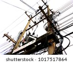 electrical line and transformer ... | Shutterstock . vector #1017517864