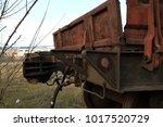 Old Rusty Railway Car.