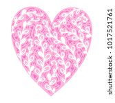 a beautiful heart drawn by hand....   Shutterstock .eps vector #1017521761