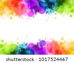banner with colorful watercolor ... | Shutterstock .eps vector #1017524467
