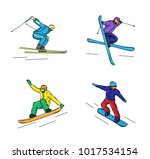 set of graphic illustrations of ... | Shutterstock .eps vector #1017534154