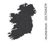 ireland map on white background ... | Shutterstock .eps vector #1017534379