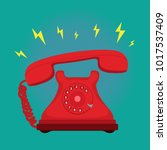classic vintage retro dial... | Shutterstock .eps vector #1017537409