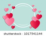 template of poster with paper... | Shutterstock .eps vector #1017541144