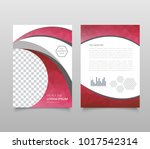 modern triangle presentation... | Shutterstock .eps vector #1017542314