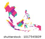map of southeast asia   modern... | Shutterstock .eps vector #1017545839