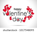 happy valentines day card... | Shutterstock .eps vector #1017548095