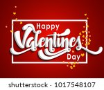happy valentines day card... | Shutterstock .eps vector #1017548107