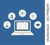 online tutoring  concept.... | Shutterstock .eps vector #1017548245