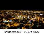 las vegas city viewed at night...   Shutterstock . vector #101754829