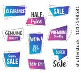 collection of sale discount... | Shutterstock .eps vector #1017548581