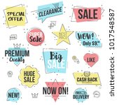 collection of sale discount... | Shutterstock .eps vector #1017548587