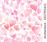 seamless watercolor pattern... | Shutterstock . vector #1017551611