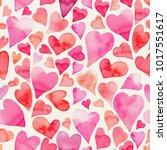 seamless watercolor pattern... | Shutterstock . vector #1017551617