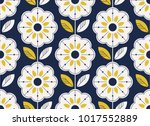 seamless floral pattern in... | Shutterstock .eps vector #1017552889