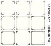 decorative frames  set 58  | Shutterstock .eps vector #1017553639