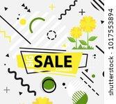 trendy memphis style geometric... | Shutterstock .eps vector #1017553894