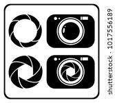 a set of camera shutter vector | Shutterstock .eps vector #1017556189