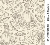 seamless pattern with bottle of ... | Shutterstock .eps vector #1017556339