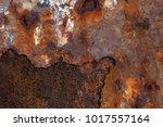 background of rusty metal ... | Shutterstock . vector #1017557164