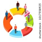 people related to share market. ... | Shutterstock .eps vector #1017558925