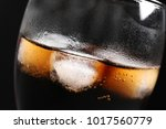 glass of refreshing cola with... | Shutterstock . vector #1017560779