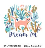vector tropical print for t... | Shutterstock .eps vector #1017561169