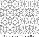 seamless ornamental vector...   Shutterstock .eps vector #1017561391