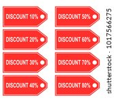 discount price tag set vector   Shutterstock .eps vector #1017566275