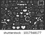 collection of valentine's cards ... | Shutterstock .eps vector #1017568177