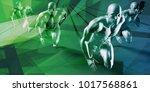 fitness training program as a... | Shutterstock . vector #1017568861