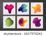 minimal backgrounds set.... | Shutterstock .eps vector #1017573241
