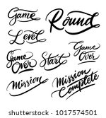 game and round handwriting... | Shutterstock .eps vector #1017574501