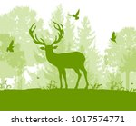 green nature landscape with... | Shutterstock .eps vector #1017574771