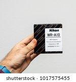 paris  france   jan 23  2018 ... | Shutterstock . vector #1017575455