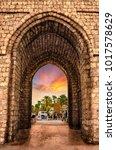 makkah gate is a landmark of... | Shutterstock . vector #1017578629