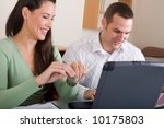 young couple and laptop | Shutterstock . vector #10175803