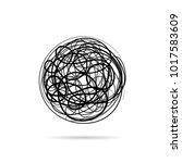 vector sign scribble of a wool... | Shutterstock .eps vector #1017583609