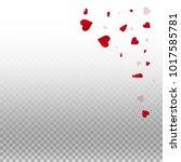 3d hearts. top right corner on... | Shutterstock .eps vector #1017585781