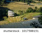 hill tribe villages and farm at ... | Shutterstock . vector #1017588151