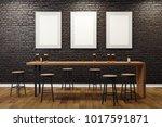contemporary black brick pub or ...   Shutterstock . vector #1017591871