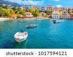 cephalonia island greece assos... | Shutterstock . vector #1017594121