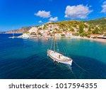 assos village and port in... | Shutterstock . vector #1017594355